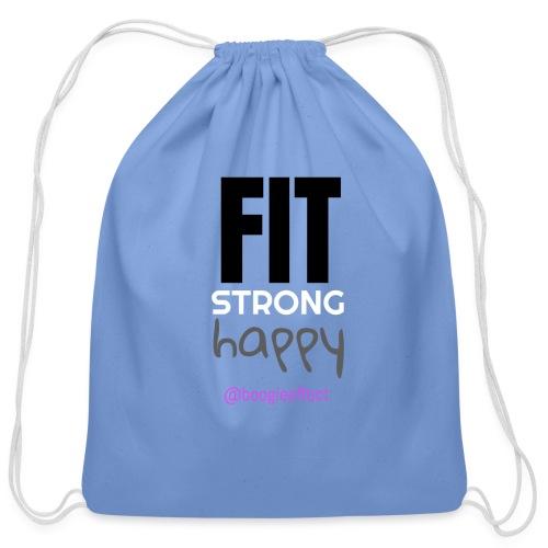 fit strong happy colour - Cotton Drawstring Bag