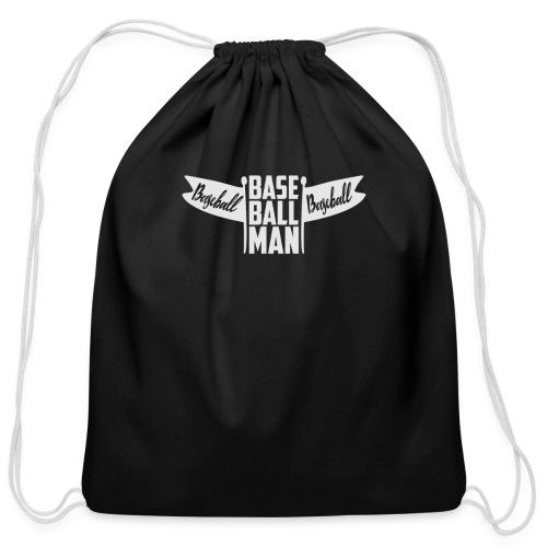 Baseball Man - Cotton Drawstring Bag