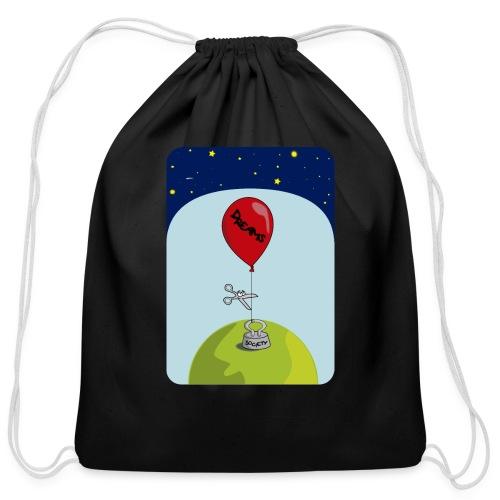 dreams balloon and society 2018 - Cotton Drawstring Bag