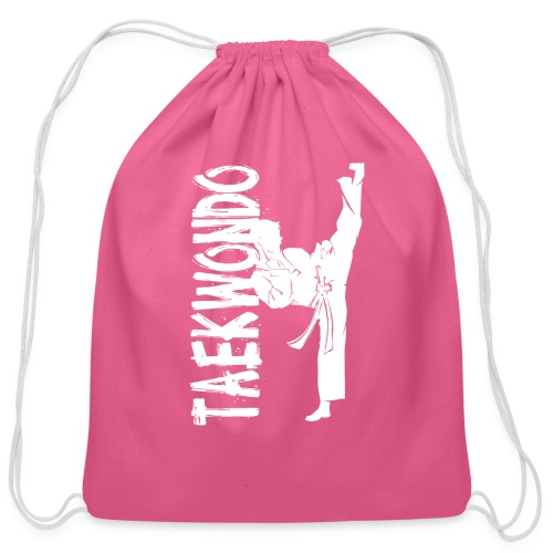 Taekwondo kick right foot - Cotton Drawstring Bag