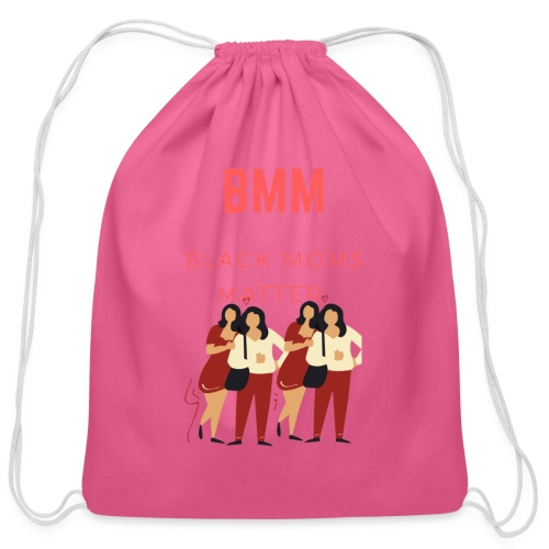 BMM wht bg - Cotton Drawstring Bag