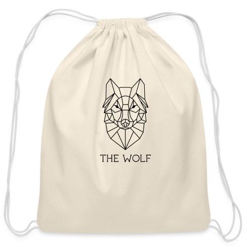 The Wolf - Cotton Drawstring Bag