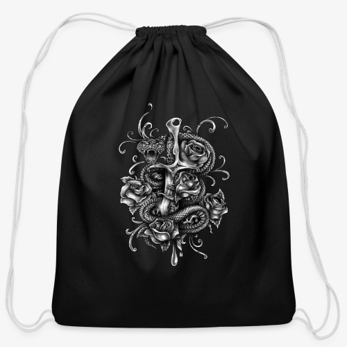 Dagger And Snake - Cotton Drawstring Bag
