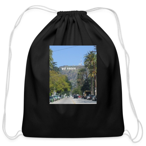 RockoWood Sign - Cotton Drawstring Bag