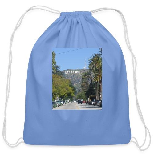 RockoWood Sign - Cotton Drawstring Bag