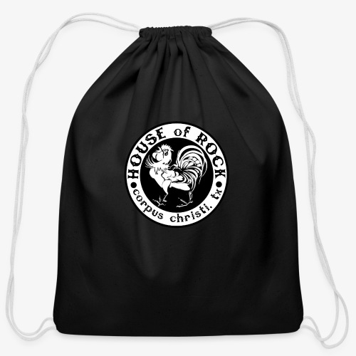 House of Rock round logo - Cotton Drawstring Bag