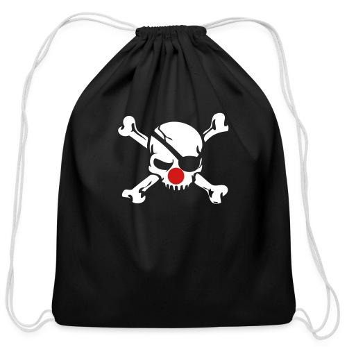 Jolly Roger Clown - Cotton Drawstring Bag