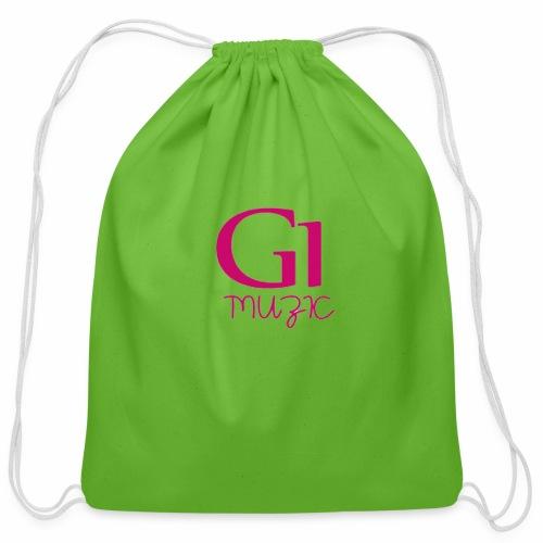 Pink G1 Muzic - Cotton Drawstring Bag