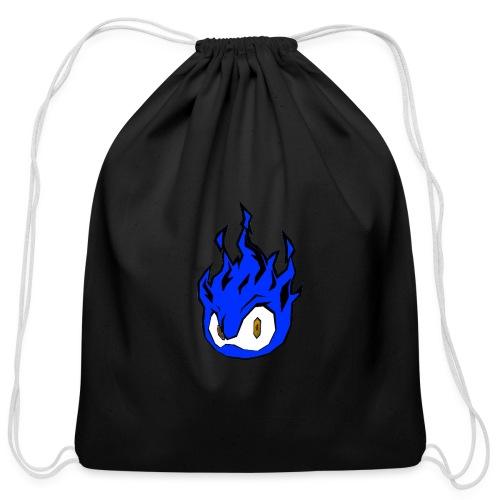 Blue Fire Power - Cotton Drawstring Bag