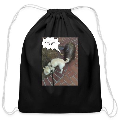 Naughty lil beaver - Cotton Drawstring Bag