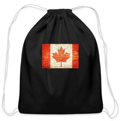 Canada flag - Cotton Drawstring Bag