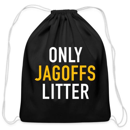 only jags litter - Cotton Drawstring Bag