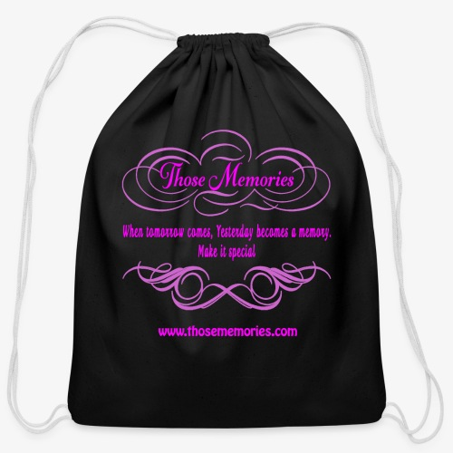 Those Memories logo - Cotton Drawstring Bag