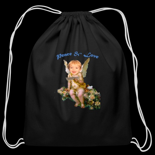 Peace and Love - Cotton Drawstring Bag