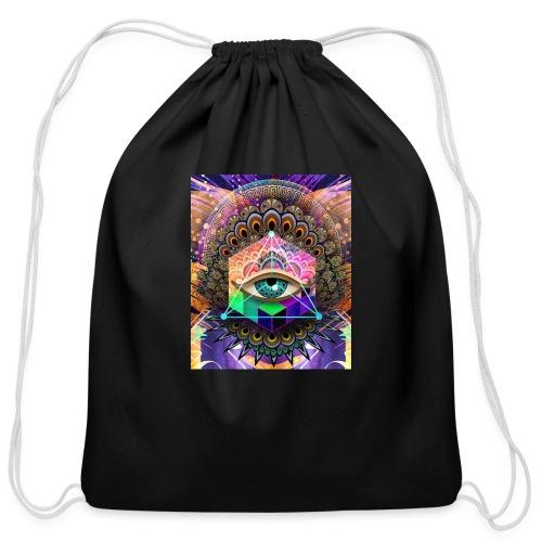 ruth bear - Cotton Drawstring Bag