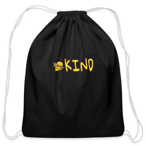 Be Kind - Adorable bumble bee kind design - Cotton Drawstring Bag