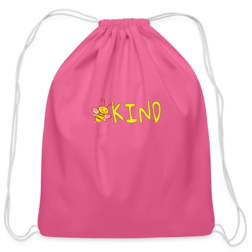 Be Kind - Adorable bumble bee kind design - Cotton Drawstring Bag