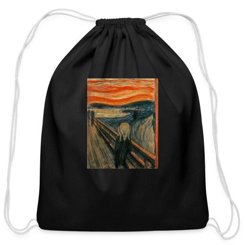 The Scream (Edvard Munch) - Cotton Drawstring Bag