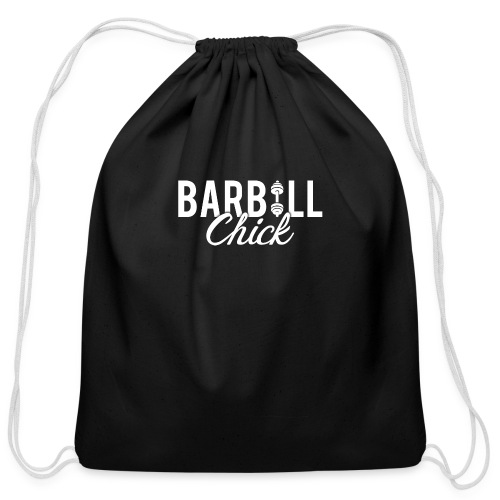 Barbell Fitness Chick - Cotton Drawstring Bag