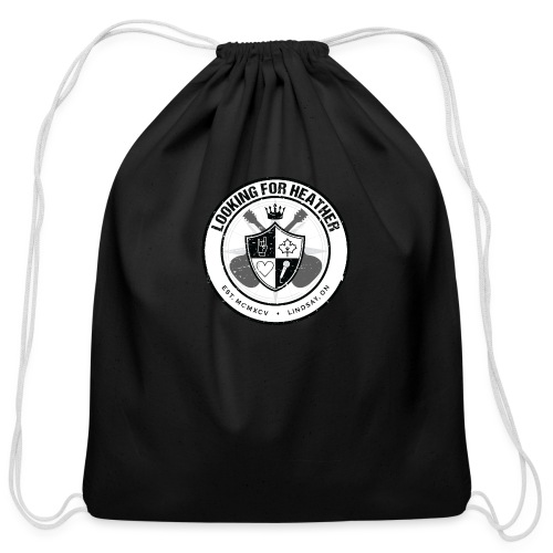 Looking For Heather - Crest Logo - Cotton Drawstring Bag