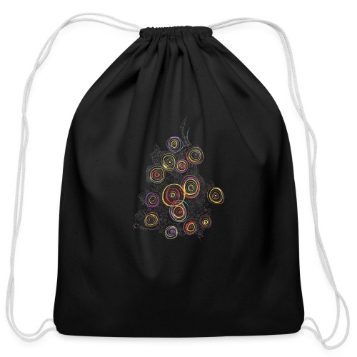 flower - Cotton Drawstring Bag