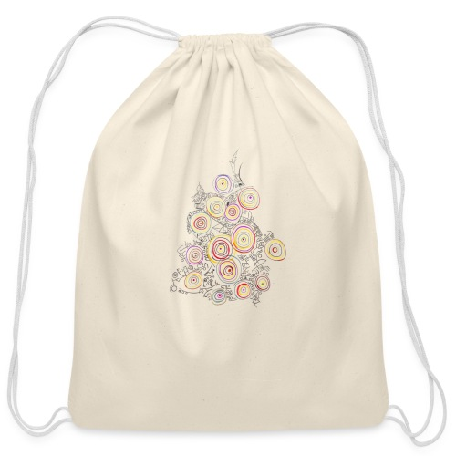 flower - Cotton Drawstring Bag