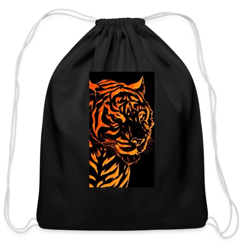 Fire tiger - Cotton Drawstring Bag