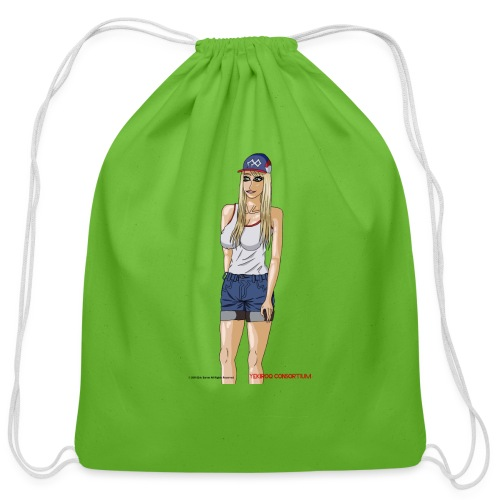 Gina Character Design - Cotton Drawstring Bag