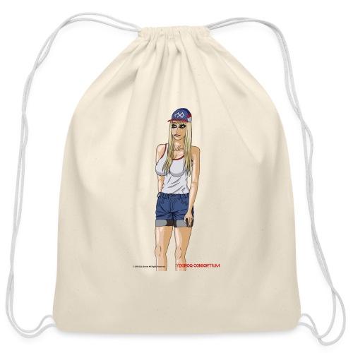Gina Character Design - Cotton Drawstring Bag