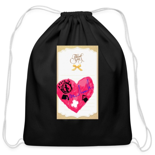 Heart of Economy 1 - Cotton Drawstring Bag