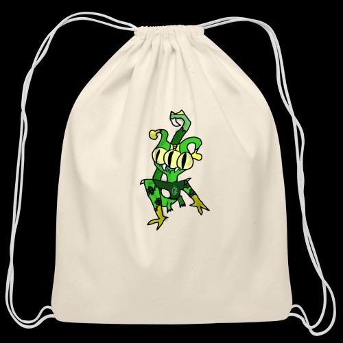 Three-Eyed Alien - Cotton Drawstring Bag