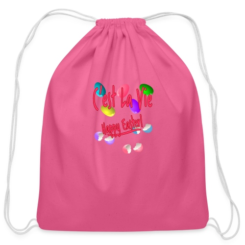 C'est La Vie, Easter Broken Eggs, Cest la vie - Cotton Drawstring Bag