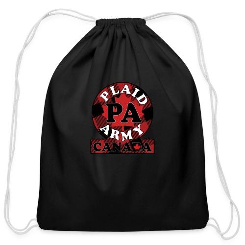 Plaid Army Canada - Cotton Drawstring Bag