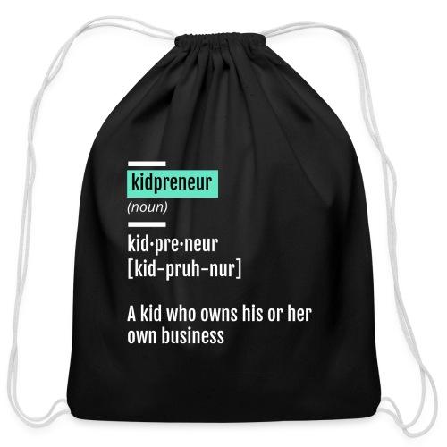 Kidpreneur Definition Logo - Cotton Drawstring Bag