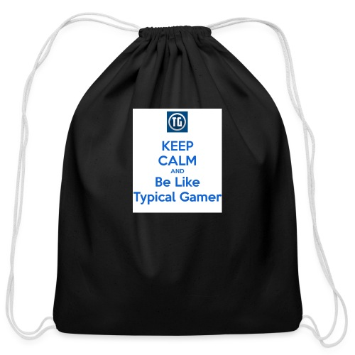 keep calm and be like typical gamer - Cotton Drawstring Bag
