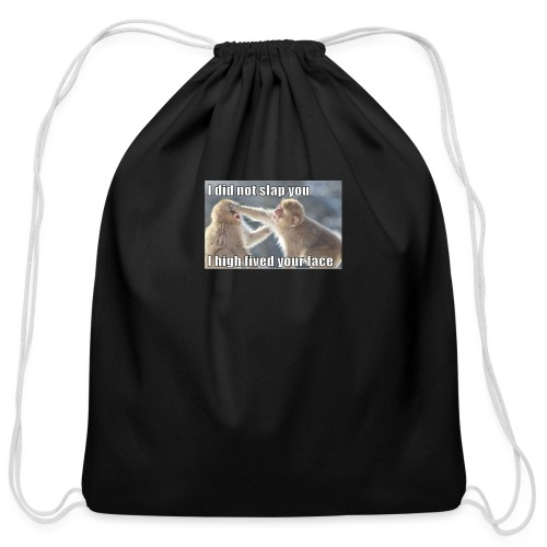 funny animal memes shirt - Cotton Drawstring Bag