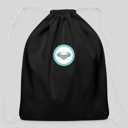 ALIENS WITH WIGS - Small UFO - Cotton Drawstring Bag