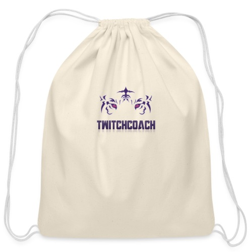 TwitchCoach Merch - Cotton Drawstring Bag