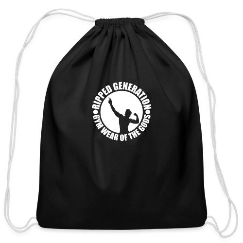 Ripped Generation Gym Wear of the Gods Badge Logo - Cotton Drawstring Bag