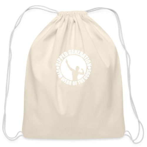 Ripped Generation Gym Wear of the Gods Badge Logo - Cotton Drawstring Bag