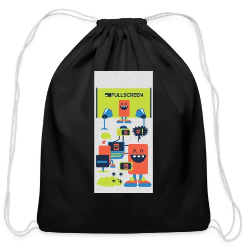 iphone5screenbots - Cotton Drawstring Bag