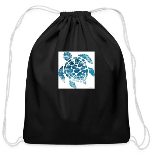turtle - Cotton Drawstring Bag