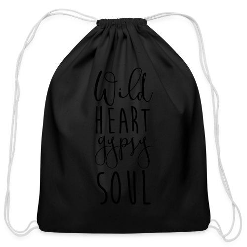 Cosmos 'Wild Heart Gypsy Sould' - Cotton Drawstring Bag
