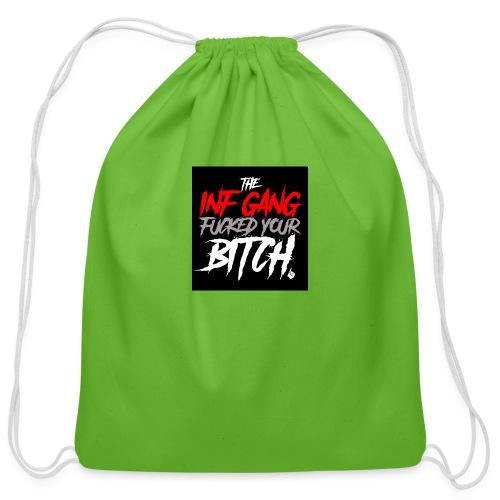 inf_gang_black - Cotton Drawstring Bag