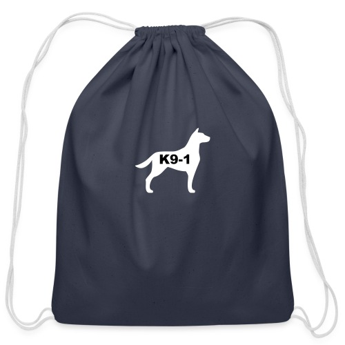 k9-1 Logo Large - Cotton Drawstring Bag
