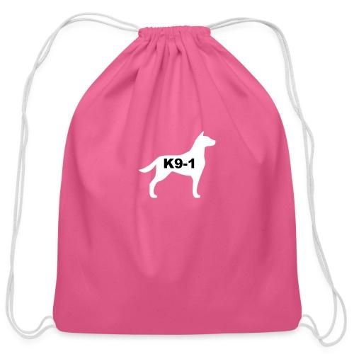 k9-1 Logo Large - Cotton Drawstring Bag