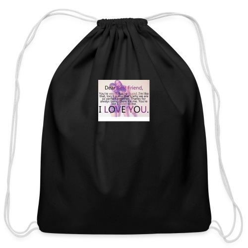 Cute best friends - Cotton Drawstring Bag