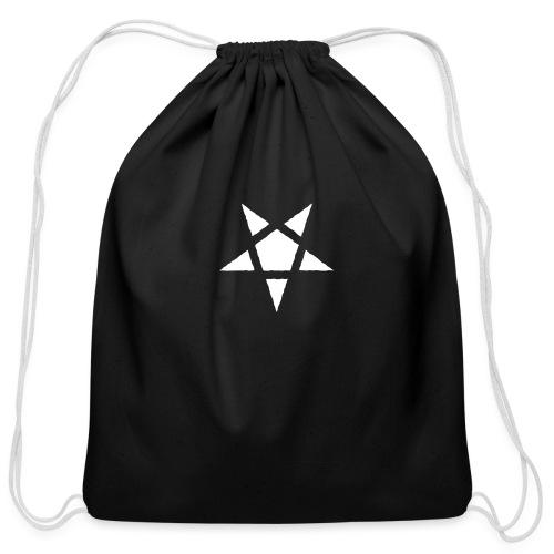Rugged Pentagram - Cotton Drawstring Bag