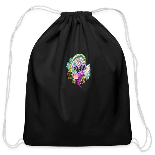 Music - Cotton Drawstring Bag