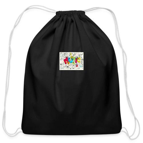 music banner - Cotton Drawstring Bag